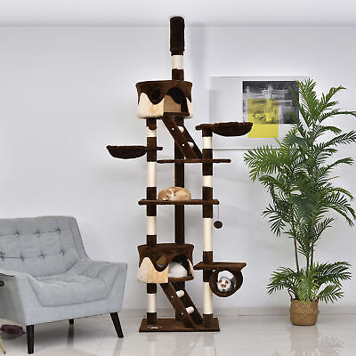 """94""""-102"""" Huge Cat Tree Scratching Post Activity Center Multi-Level Play House"""