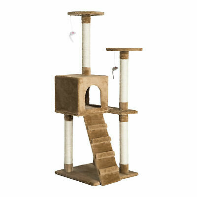 """52"""" Multi-Level Tower Cat Tree Condo Furniture Kitty Scratching w/ Toy"""