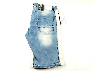 NEW MENS SOUTHPOLE BLUE JEAN SHORTS DARK SAND BLUE 18127-3203 RIPPED SIZE 48