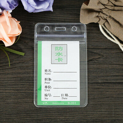Clear Transparent ID Card Holder Protector Cover Case Badge Pass Holder BS