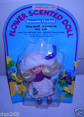 """#3992 NRFC Vintage Rose Petal Place Clone Flower Scented 5"""" Doll Sweetie Orchid"""