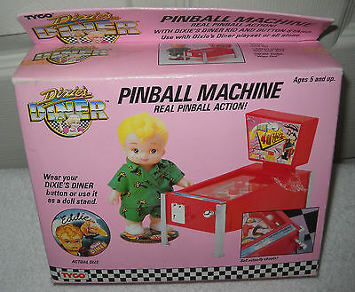 #9445 NIB Vintage TYCO Dixie's Diner Eddie with Pinball Machine