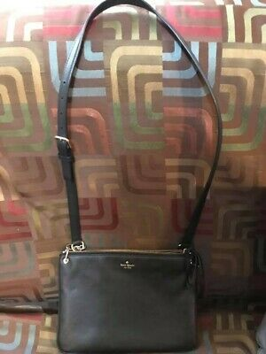 NWT KATE SPADE NY Larchmont Ave Madelyne Crossbody Bag Black or Cream  $249