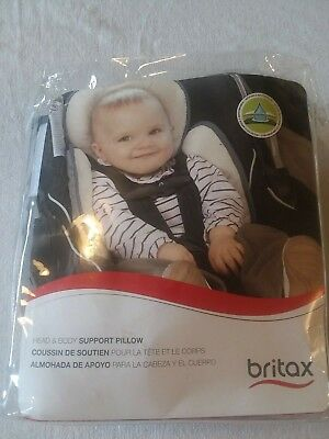 Britax Head and Body Support Pillow for Car Seats and Strollers, Iron/Grey