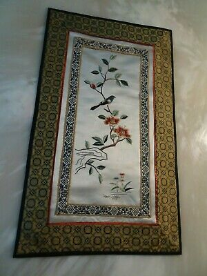 VINTAGE CHINESE SILK hand EMBROIDERED picture