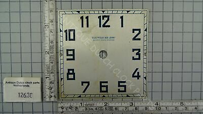 Favre-Bulle Art Deco Square Dial For Electric Pulse Clock 3