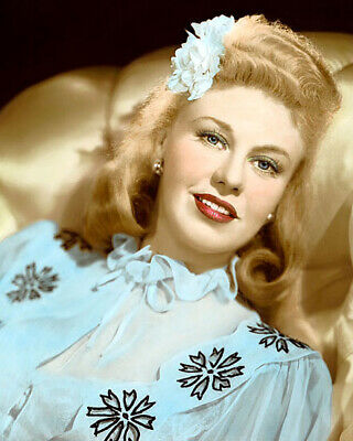 """GINGER ROGERS TENDER COMRADE 1943 ACTRESS 8x10"""" HAND COLOR TINTED PHOTOGRAPH"""