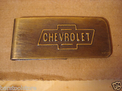 Chevrolet Motor Company Automotive Money Clip Solid Brass Antique Patina #Sm