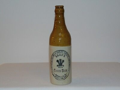 Rare Vintage Antique Canadian Two Toned STONE GINGER BEER Bottle GURDS
