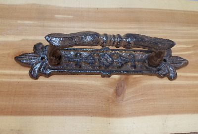 "Large 10"" Cast Iron Antique Style Fancy Barn Handle Gate Pull Shed Door Handle"