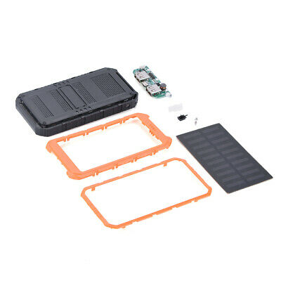 Waterproof For Power Bank Dual USB Port Portable Charger Solar Case Cover