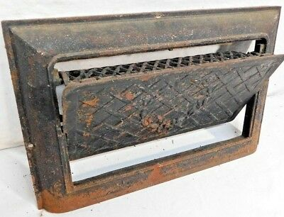 Antique Victorian Style Coal Heating Vent Grate - C. 1890 Architectural Salvage
