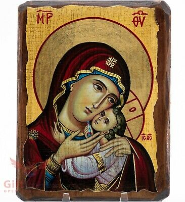 Mother Of God Kasperovskaya Icon Божией Матери Касперовская Wood Base 10X12 Cm