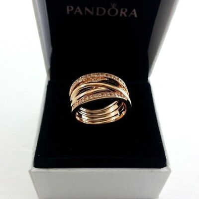 6ffa06bd7 AUTHENTIC PANDORA RING Rose Collection Entwined #180919Cz-58 Size ...