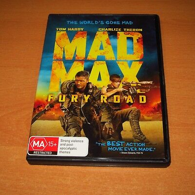 Mad Max Fury Road ( 2015 , Dvd Region 4 ) Tom Hardy / Charlize Theron
