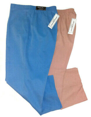 ed04ad90dd Lot Of 2 Alfred Dunner Womens Pants Size18W Blue/apricot Elastic Waist$104.