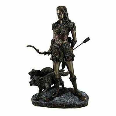 Resin Statues Skadi Norse Giantess Ski Goddess Of Winter And Mountains With Wolv