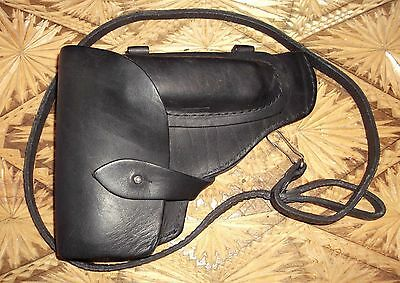 SOVIET RUSSIAN  PM ПМ Leather Pistol Holster of USSR NAVY & Leather Cord