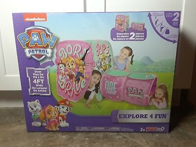 Nickelodeon Paw Patrol Explore 4 Fun Pink Girls Tent Play Hut - BRAND NEW