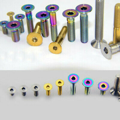 6x Titanium Countersunk M5 x10//12//15//20//25//30//35//40mm Hexagon Socket Screw Bolts
