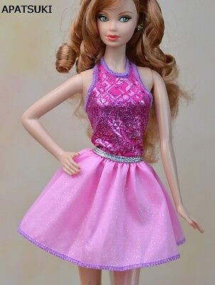 """Pink Fashion Doll Clothes A-line Backless Dress For 11.5"""" Doll Short Dresses"""