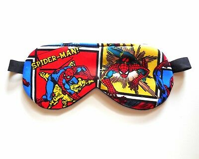 Sleep Mask Spiderman Eye Shade Superhero, Kids, Adult Size Blindfold Marvel NIP