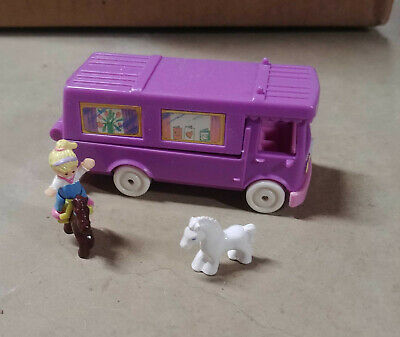 Vintage Polly Pocket Stable on the Go Horse Van 1994 Bluebird  *100% Complete*