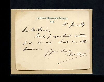 1889 Bret Harte Writer Author Poet Autograph Signed Letter