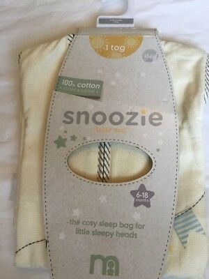 ** Brand New ** Mothercare Teddy's Toy Box 6-18  1 Tog Snoozie Sleeping Bag