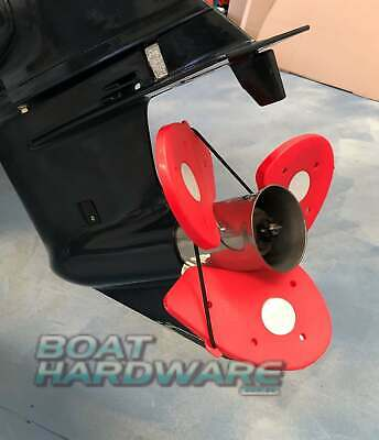 PROP SOX® Outboard Propeller Blade Sock Cover Safety when towing RED SAFETY