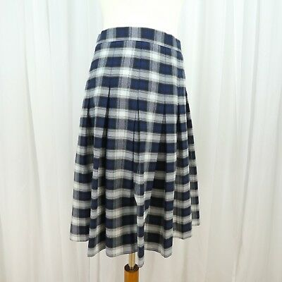 81263e9b945ed2 Flynn & OHara School Uniform Skirt Girls Size 14.5 X Pleated Plaid Blue  White