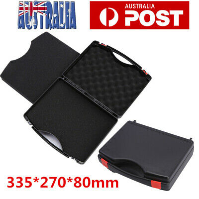 Plastic Hard Case Bag Tool Storage Box Portable Tool Organizer Black AU