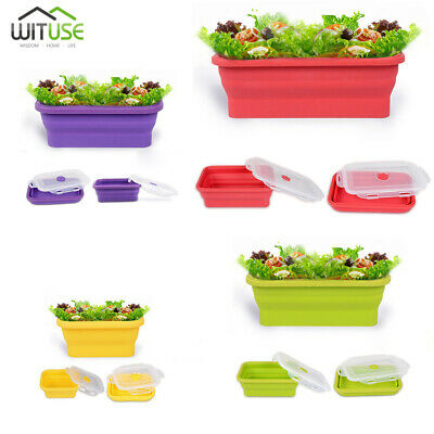 Silicone Soft Travel Portable Eco Collapsible Folding Lunch Box Food Container