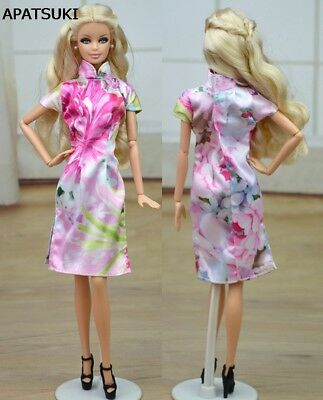 Unique Chinese Traditional Dress Qipao Dress For 1/6 Doll Clothes Cheongsam Toy
