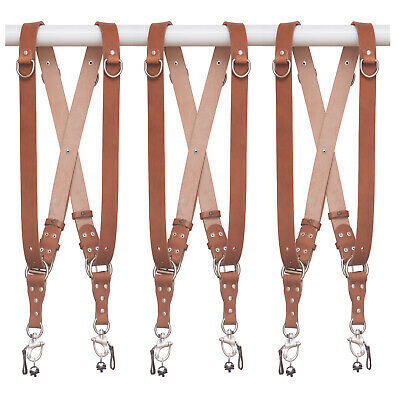 Dual Double Multi Camera Strap Harness Leather, Free Shipping Australia