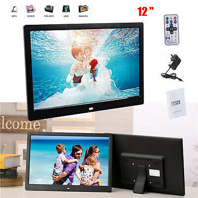 12 Inches Screen HD LED Digital Photo Frame 1280*800 Electronic Picture Album AU