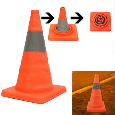 Safety Fold Traffic Road Cone Telescopic  Warning Sign Reflective Tape HD