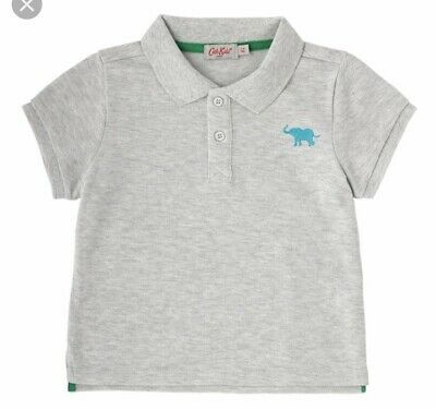 Cath Kidston Grey Boys Polo Shirt Size 1-2 Years