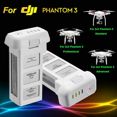 LiPo Battery For DJI Phantom 3 Pro Advanced Standard Intelligent Flight 4480mAh
