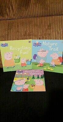 3 X Peppa Pig Story Book Reading Bundle Job Lot Learning Childrens Toddler