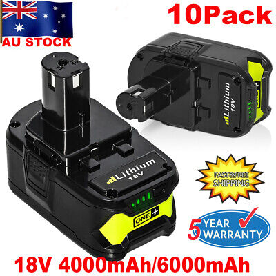6.0AH 18V P108 Lithium battery For RYOBI ONE+ P104 P107 P109 P780 P105 P122 P190