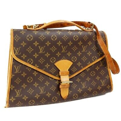 9eeb127a6a9 LOUIS VUITTON Monogram Beverly M51121 2Way Hand Bag Briefcase Brown Leather