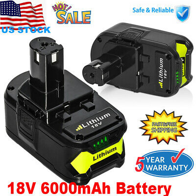 P108 Battery for Ryobi 18-Volt ONE+ P104 P105 6.0AH High Capacity P107 P109 P102