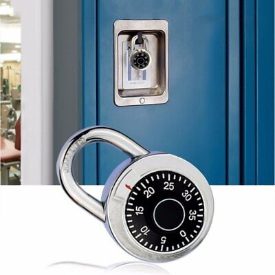 Padlock Digit Combination Code Lock Safe Round Dial Number Luggage Suitcase
