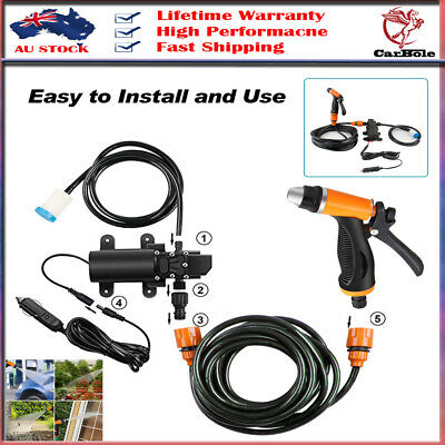 12V Portable 100W 160PSI High Pressure Car Electric Washer Auto Wash Pump Set AU