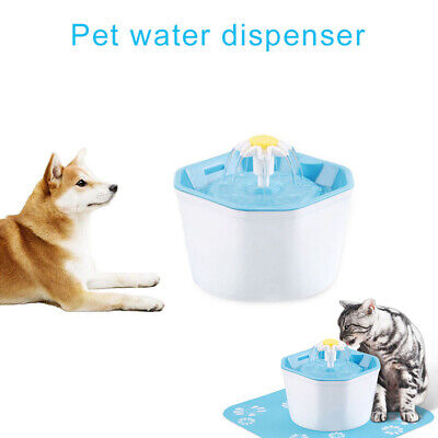 1.6L Pet Drinking Fountain Automatic Electric Cat Dog Water Dispenser Detachable