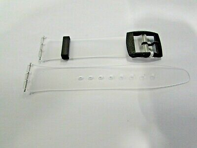 Resin Watch Band Strap to fit Standard Swatch Skin 16mm Transparent