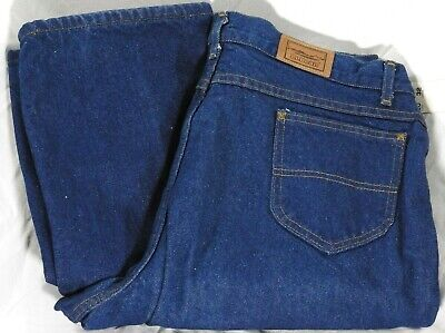 LL BEAN DOUBLE L Relaxed Fit Flannel Lined Jeans Women's