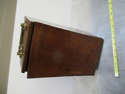 Antique Empty Wood Box Case Beck London Uk Microscope Part As Pictured  #Tb-5-1