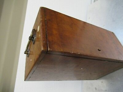 Antique Empty Wood Box Case Beck London Uk Microscope Part As Pictured  #Tb-5-2